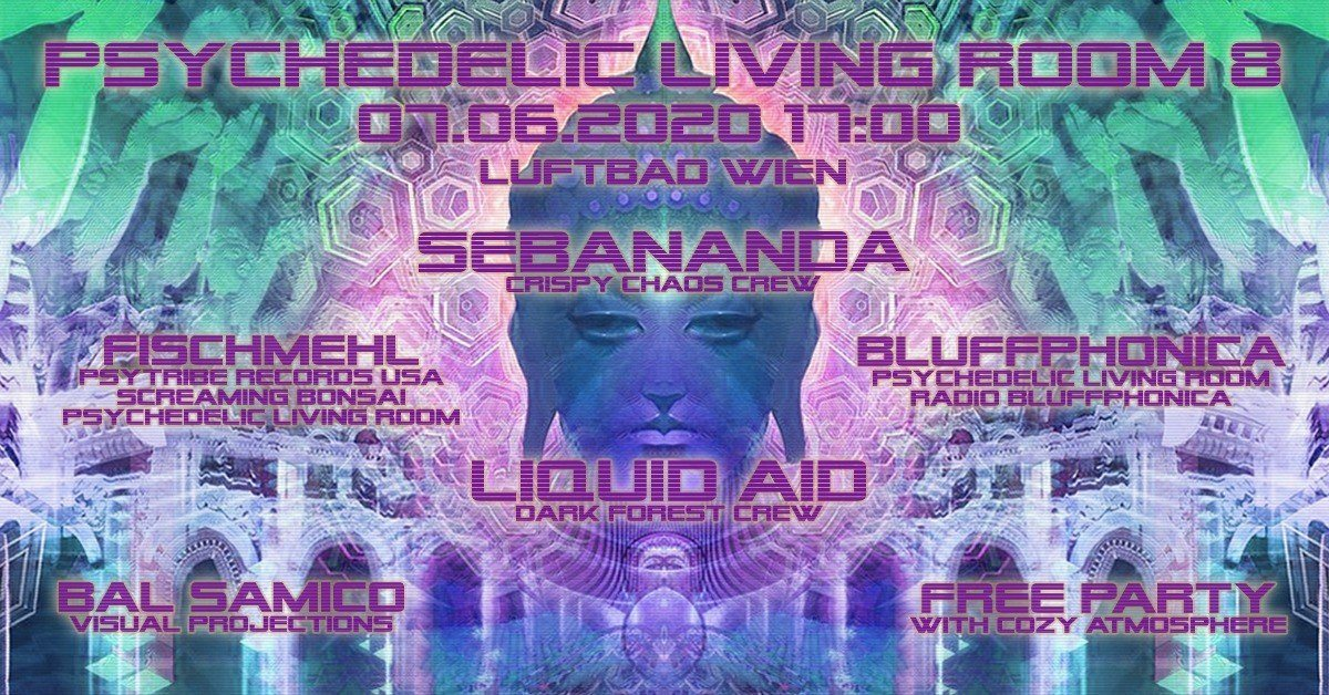 Party Flyer Psychedelic Living Room #8 7 Jun '20, 17:00