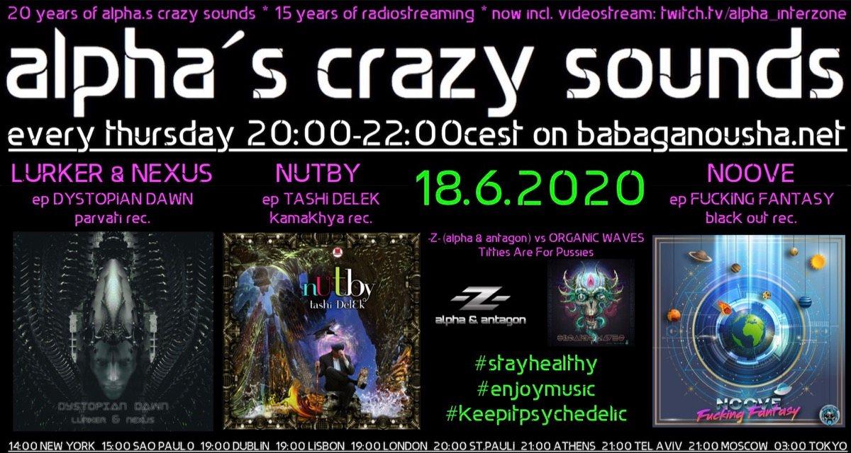 Party Flyer alpha.s crazy sounds 18 Jun '20, 20:00