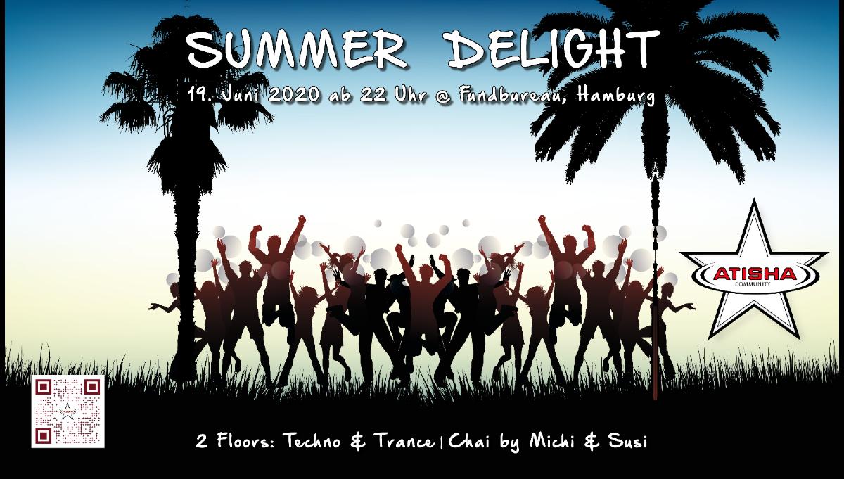 Party Flyer Atisha: Summer Delight (TranceDance) 19 Jun '20, 22:00