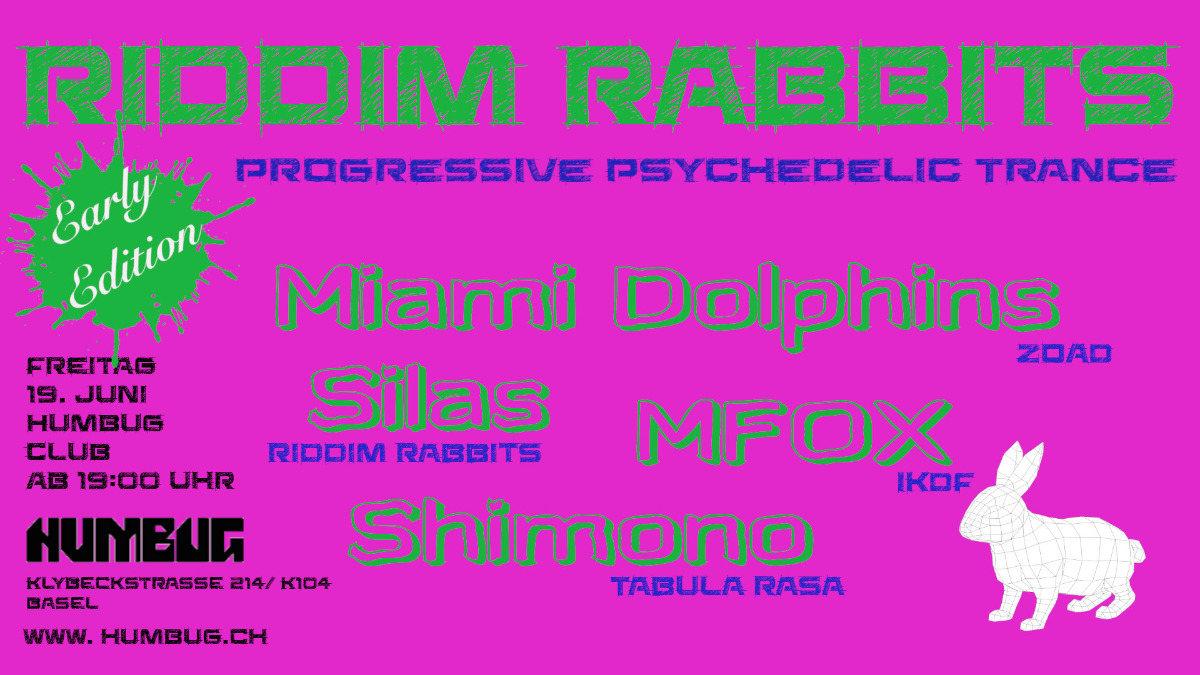 Party Flyer RIDDIM RABBITS 19 Jun '20, 19:00