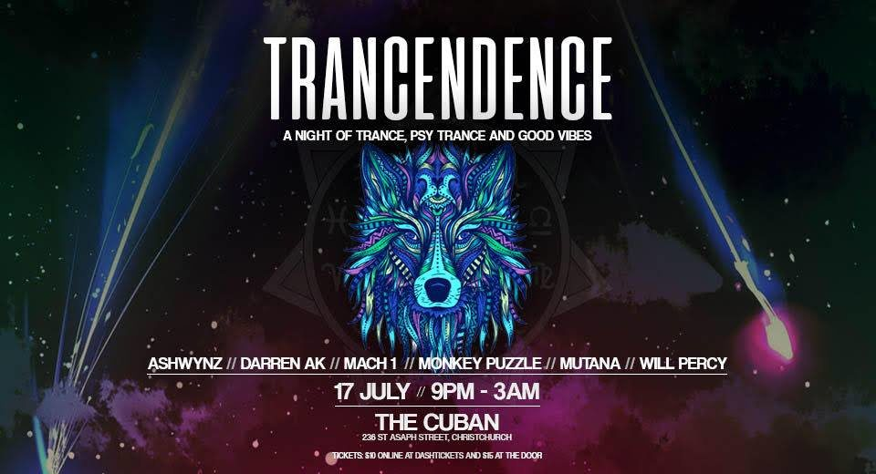 Party Flyer TRANCENDENCE (CH) 17 Jul '20, 21:00