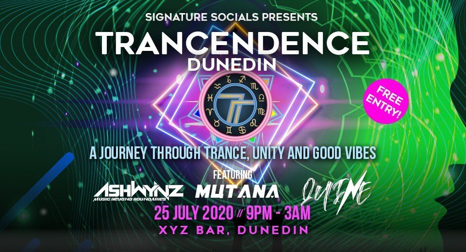 Party Flyer TRANCENDENCE DUNEDIN 25 Jul '20, 21:00