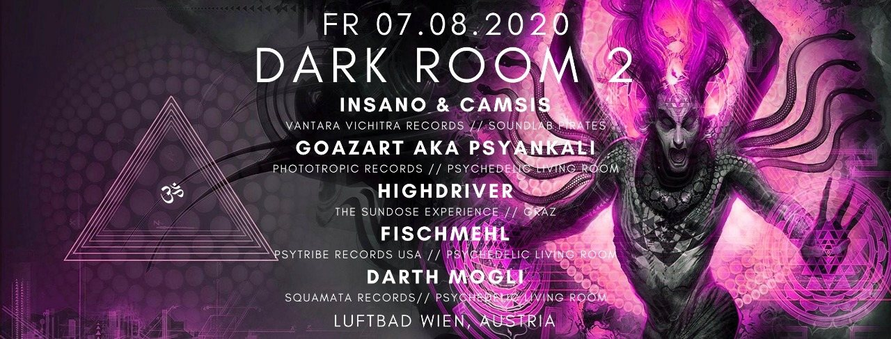 Party Flyer Dark Room #2 7 Aug '20, 19:00
