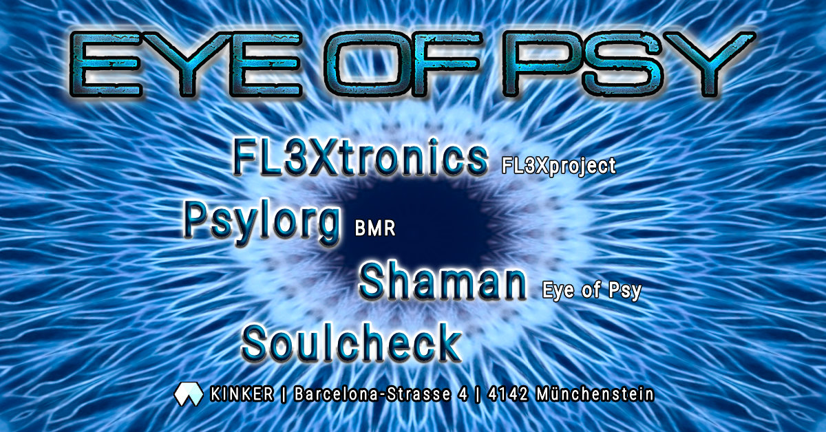 Party Flyer Eye of Psy 8 Aug '20, 23:00