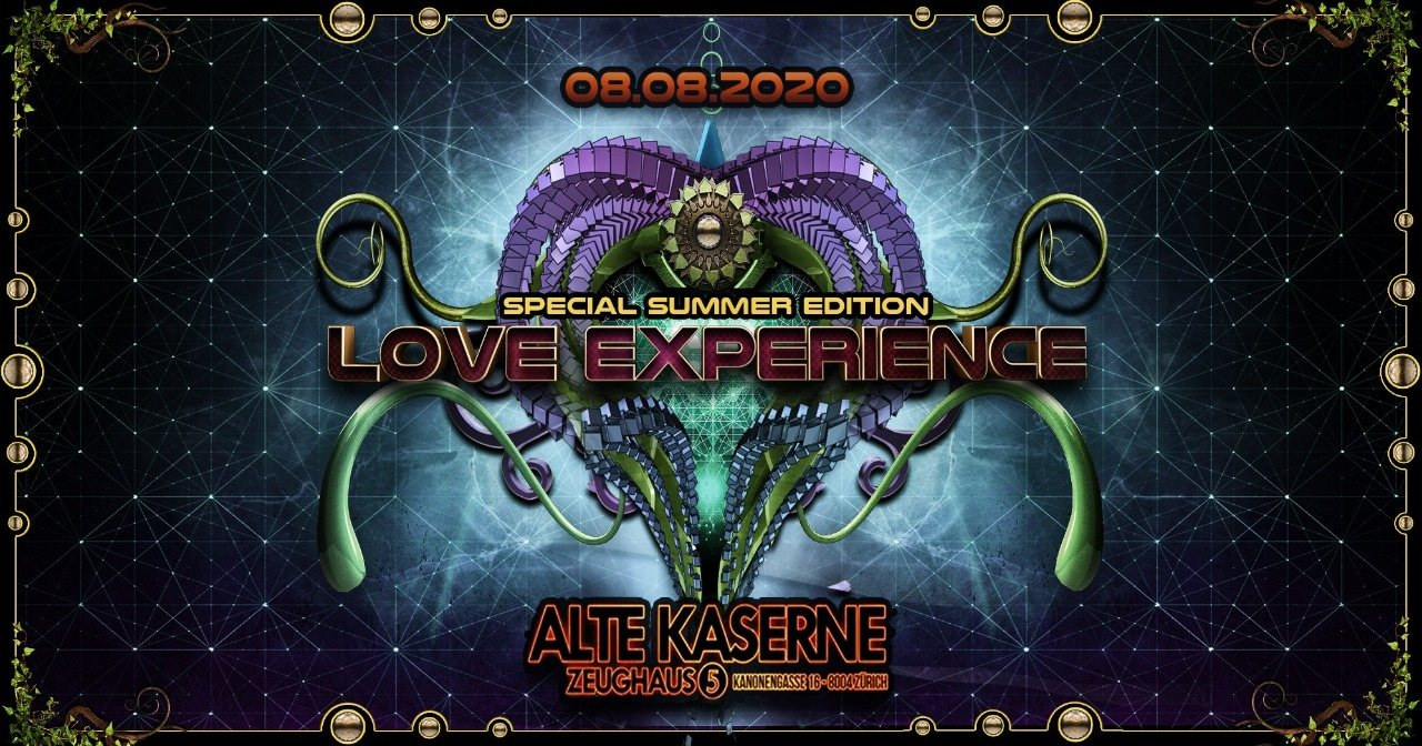Party Flyer **LOVE EXPERIENCE - Special Summer Edition** 8 Aug '20, 22:30