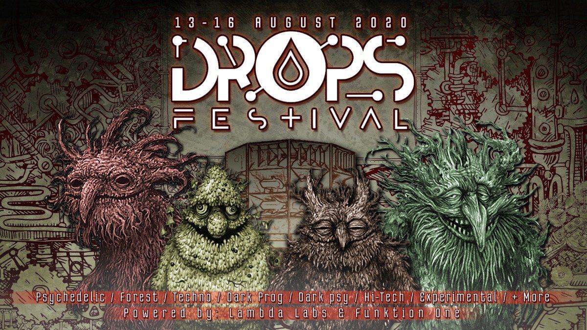Party Flyer DROPS festival 2020 12 Aug '20, 12:00