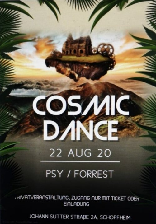 Party Flyer Cosmic dance 22 Aug '20, 22:00