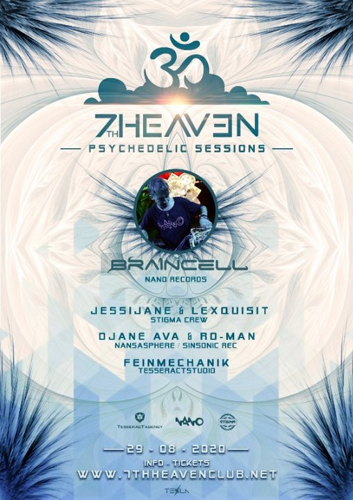 7th Heaven Psychedelic Session: Braincell 29 Aug '20, 22:00