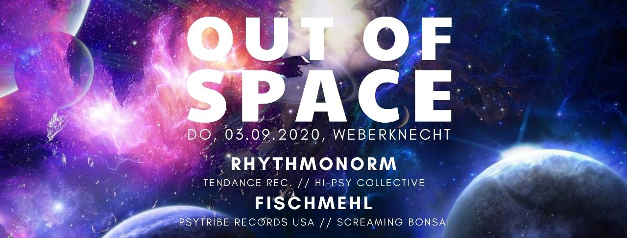 Party Flyer Out of Space 3 Sep '20, 20:00