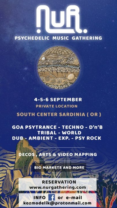 Party Flyer NUR Gathering - South / Center Sardinia | CANCELED | 4 Sep '20, 18:00