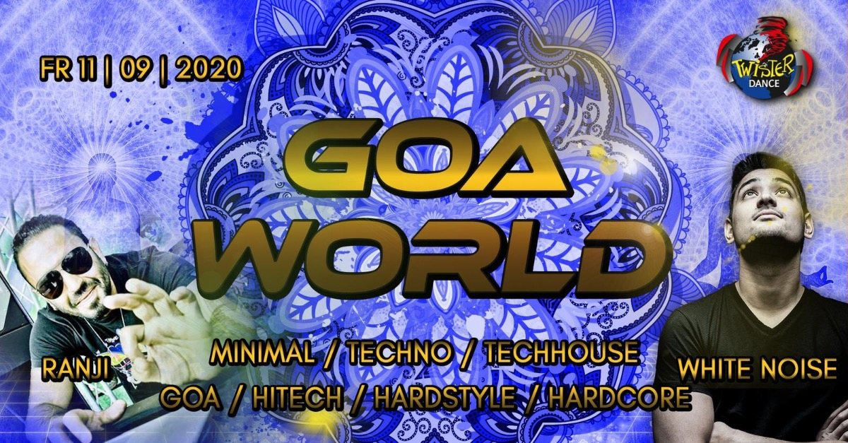 Party Flyer Goa World | Ranji Live | Whitenoise Live | 4 Floors 11 Sep '20, 22:00