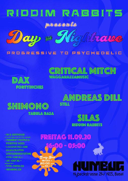 Party Flyer RIDDIM RABBITS Day & Nightrave 11 Sep '20, 16:00