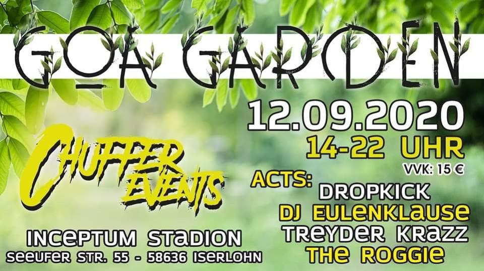 Party Flyer Chuffer´s Goa Garden 12 Sep '20, 14:00