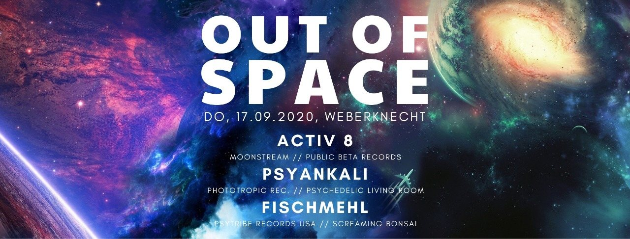 Party Flyer Out of Space 17 Sep '20, 20:00