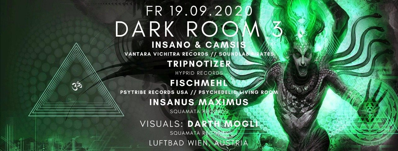 Dark Room #3 19 Sep '20, 19:00