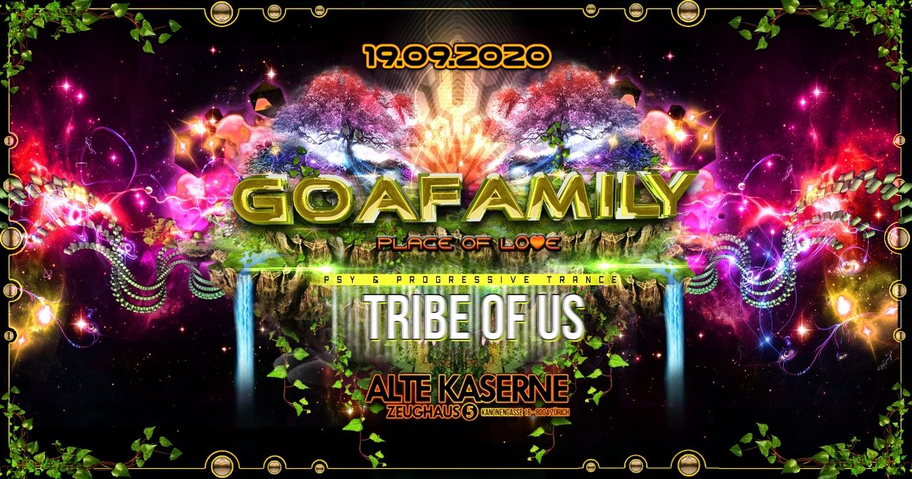 Party Flyer **GOAFAMILY meets Tribe of Us** 19 Sep '20, 22:30