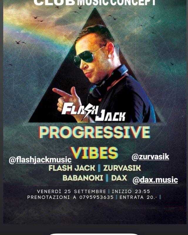 Party Flyer Progressive Vibes 25 Sep '20, 23:30