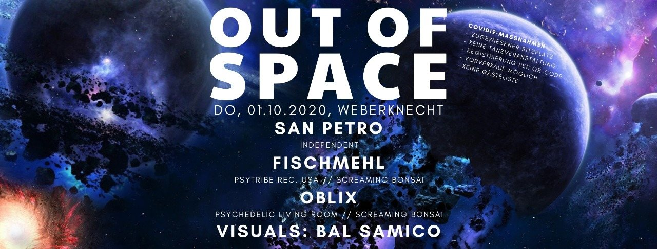 Party Flyer OUT of SPACE 1 Oct '20, 20:00