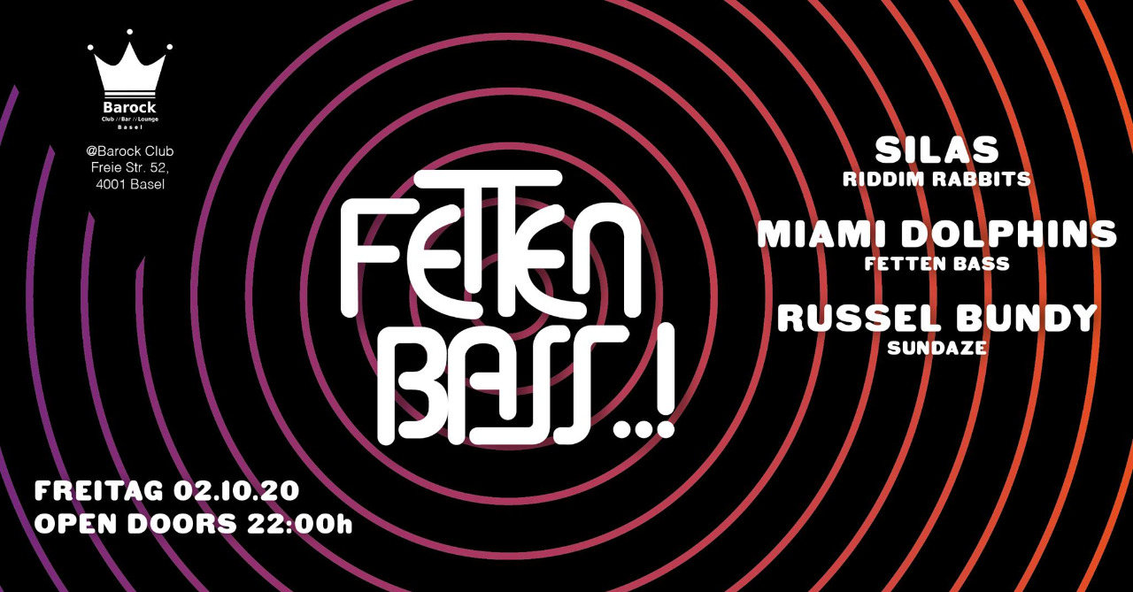 Party Flyer Fetten Bass 2 Oct '20, 22:00