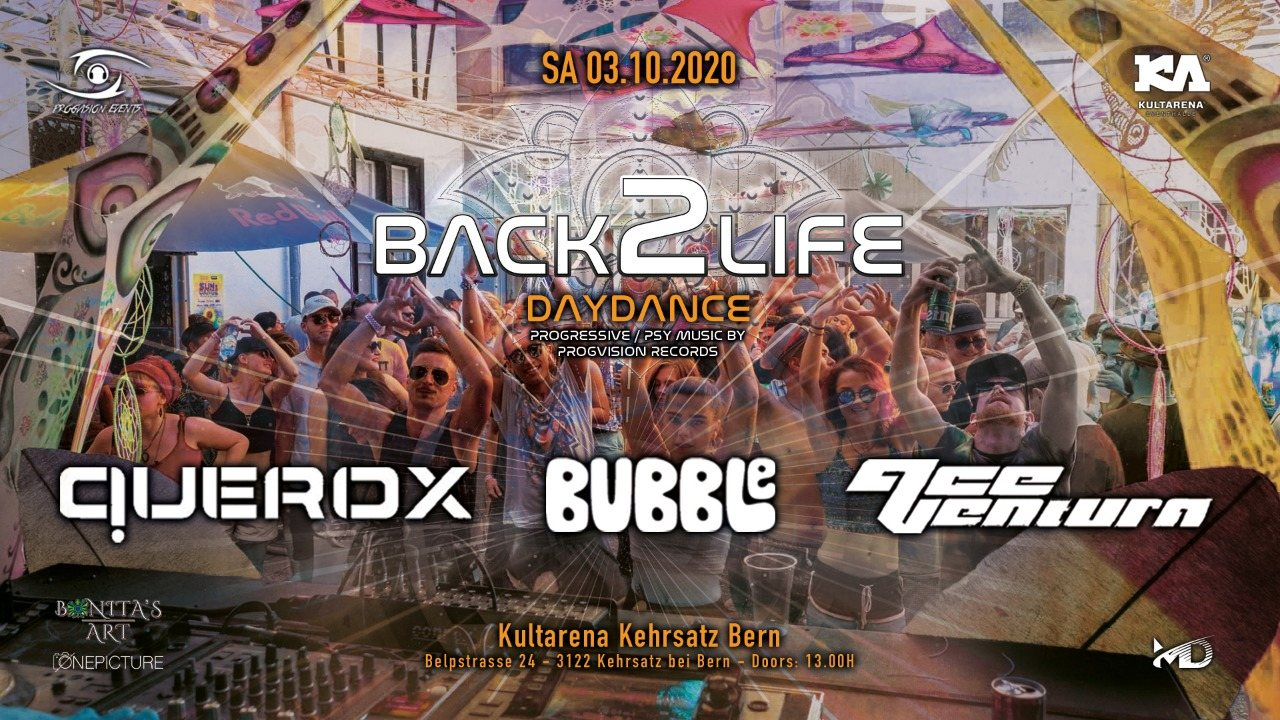 Party Flyer ༺★ BACK 2 LIFE DAYDANCE ★༻ Round 6 w/ SOLD OUT! Ace Ventura, Querox, Bubble uvm. 3 Oct '20, 14:00