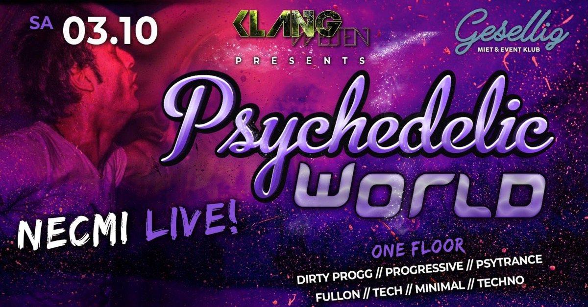 Party Flyer Psychedelic World | Necmi Live 13 Mar '21, 22:00
