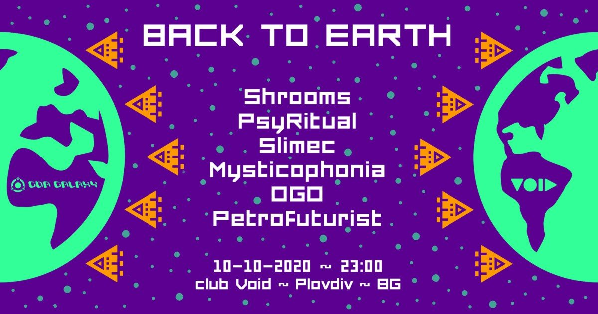 BACK TO EARTH 10 Oct '20, 23:00