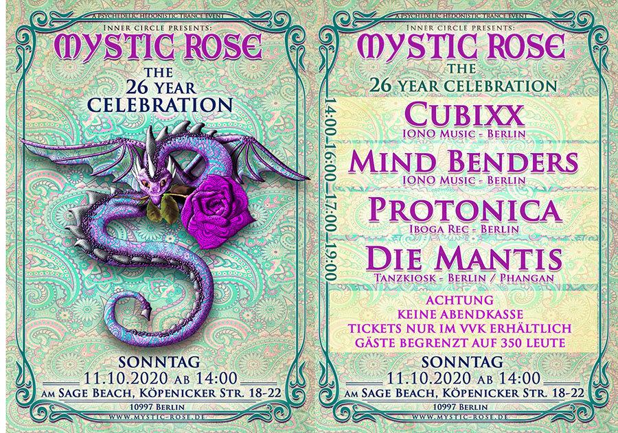 The 26 Year Mystic Rose Celebration 11 Oct '20, 14:00