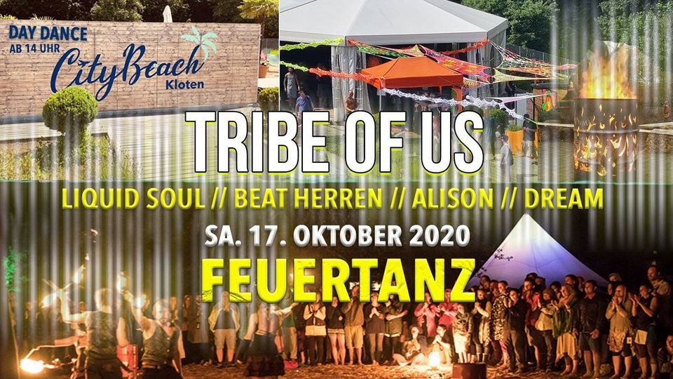 Party Flyer Tribe Of Us - Feuertanz 17 Oct '20, 14:00
