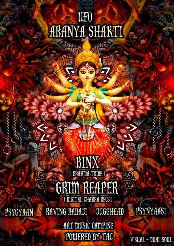 Party Flyer ARANYA SHAKTI 24 Oct '20, 18:30