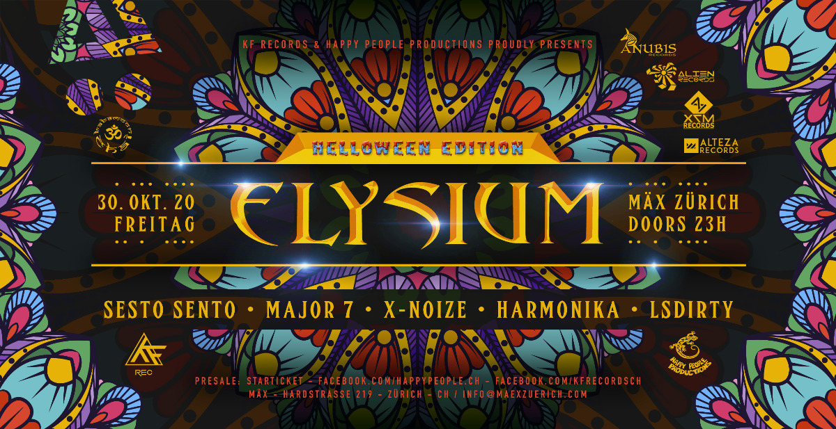 ☆ELYSIUM☆ Helloween Ed / Sesto Sento / Harmonika / Major7 / X-Noise / LSDirty 30 Oct '20, 23:00