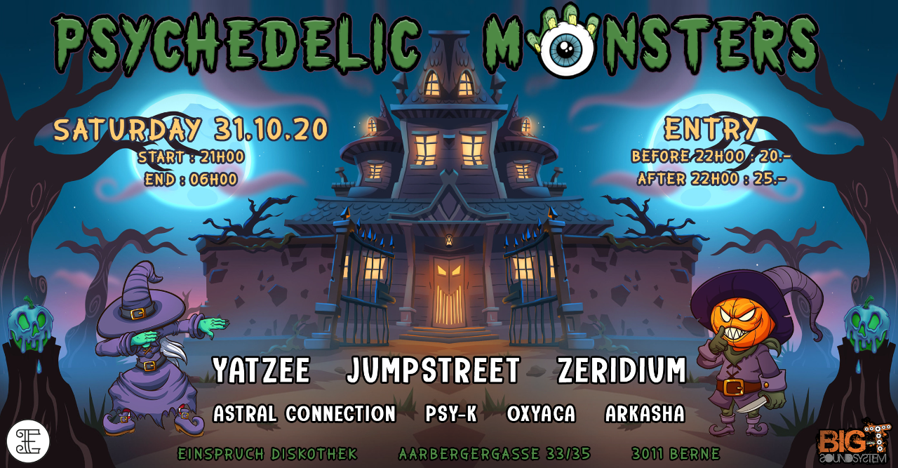 Party Flyer Psychedelic Monsters 31 Oct '20, 21:00