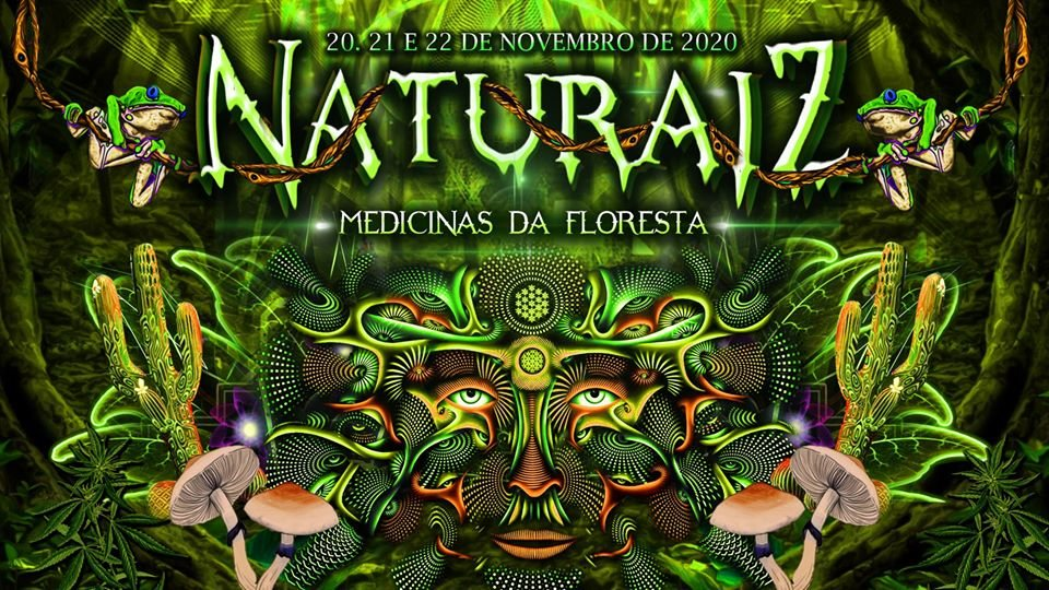 Party Flyer Naturaíz Festival #3 - Medicinas da Floresta 20 Nov '20, 18:00