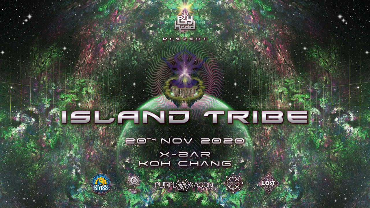 "Party Flyer Psyhead on vacation ""Island Tribe"" 20 Nov '20, 17:00"
