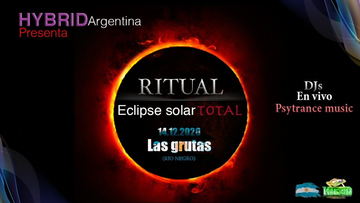 Ritual eclipse solar total / Las grutas (Argentina) / Hybrid sounds 14 Dec '20, 12:00