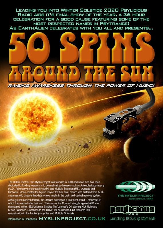 Party Flyer 50 Spins Around The Sun 19 Dec '20, 12:00