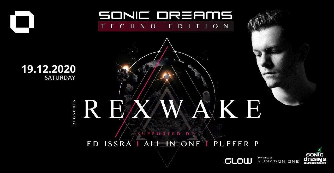 Party Flyer Sonic Dreams Techno Edition w/ REXWAKE 19 Dec '20, 21:00