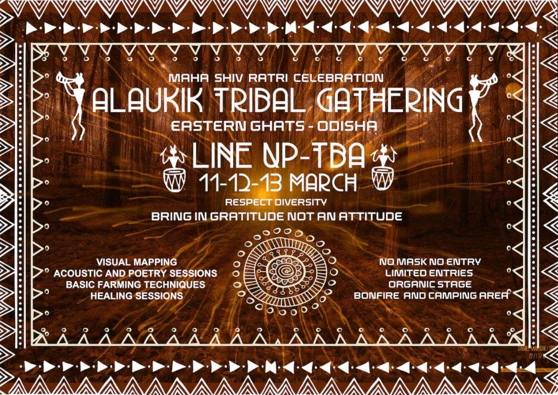 Party Flyer Alaukik Tribal Gathering : Maha Shiv Ratri Celebration 11 Mar '21, 19:00