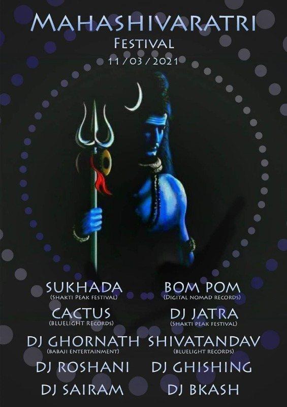 Party Flyer Psy-Maha Shivaratri festival 2021 Pokhara Nepal 11 Mar '21, 12:30