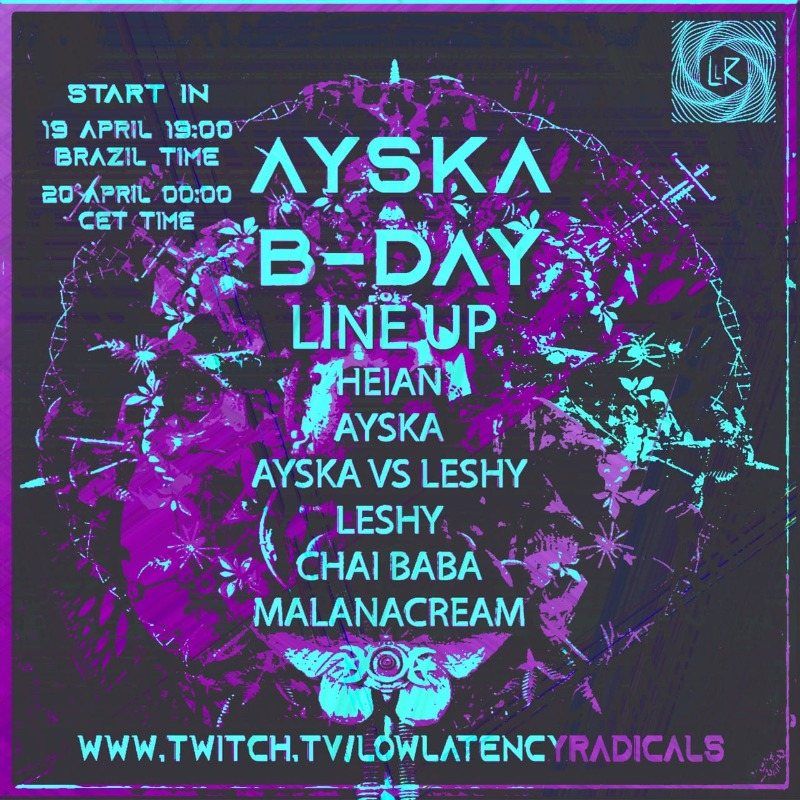 Party Flyer lowlatency_live-special | BDAY BASH with guest streamers celebrating bicycle day 20 Apr '21, 00:00