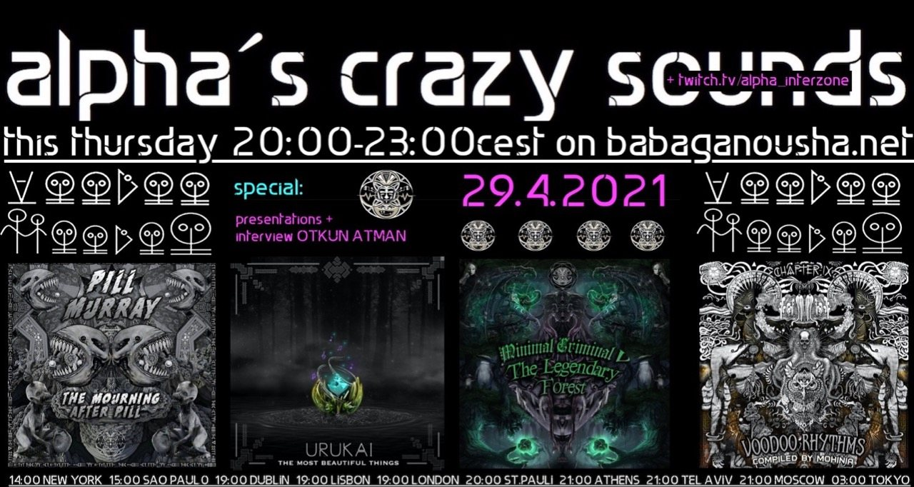 Party Flyer alpha.s crazy sounds: VOODOO HOODOO SPECIAL releases + interview 29 Apr '21, 20:00