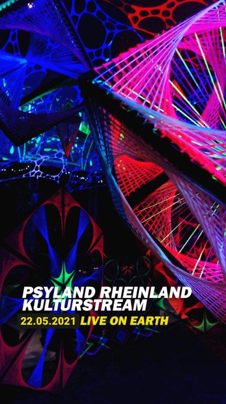 Party Flyer Psyland Rheinland Kultur Livestream 22 May '21, 19:30