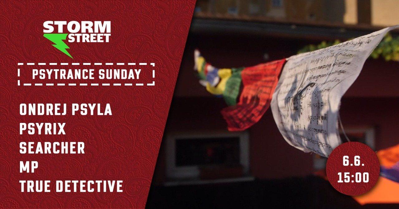Party Flyer Psytrance Sunday & Storm Street 6 Jun '21, 15:00