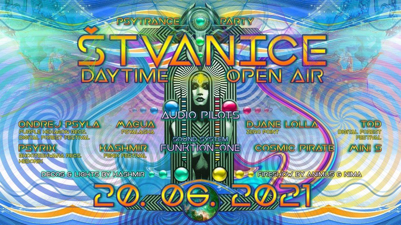 Party Flyer Štvanice IV. - Daytime psytrance open air 20 Jun '21, 14:00