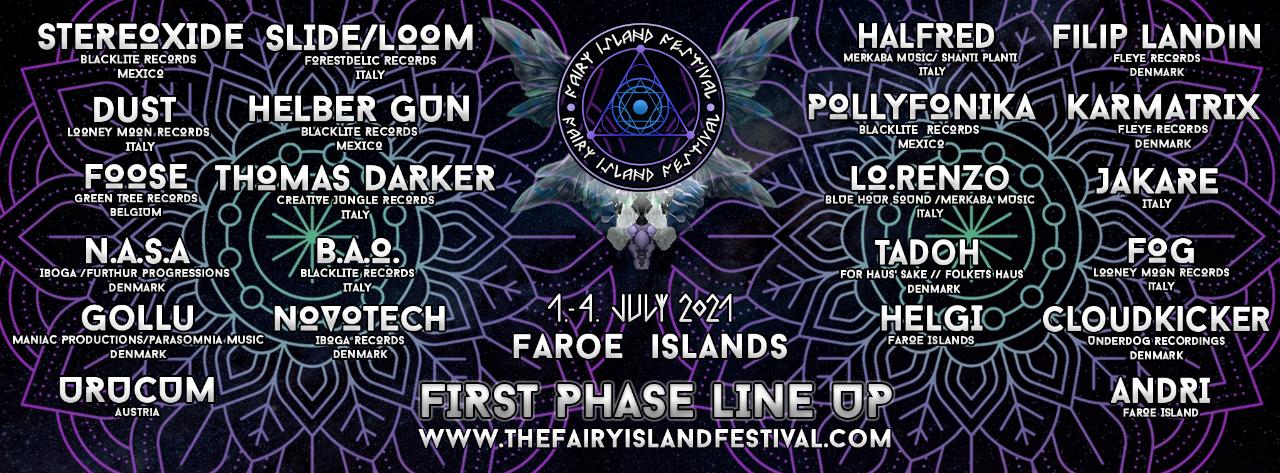 Party Flyer The Fairy Island Festival 1 Jul '21, 18:00