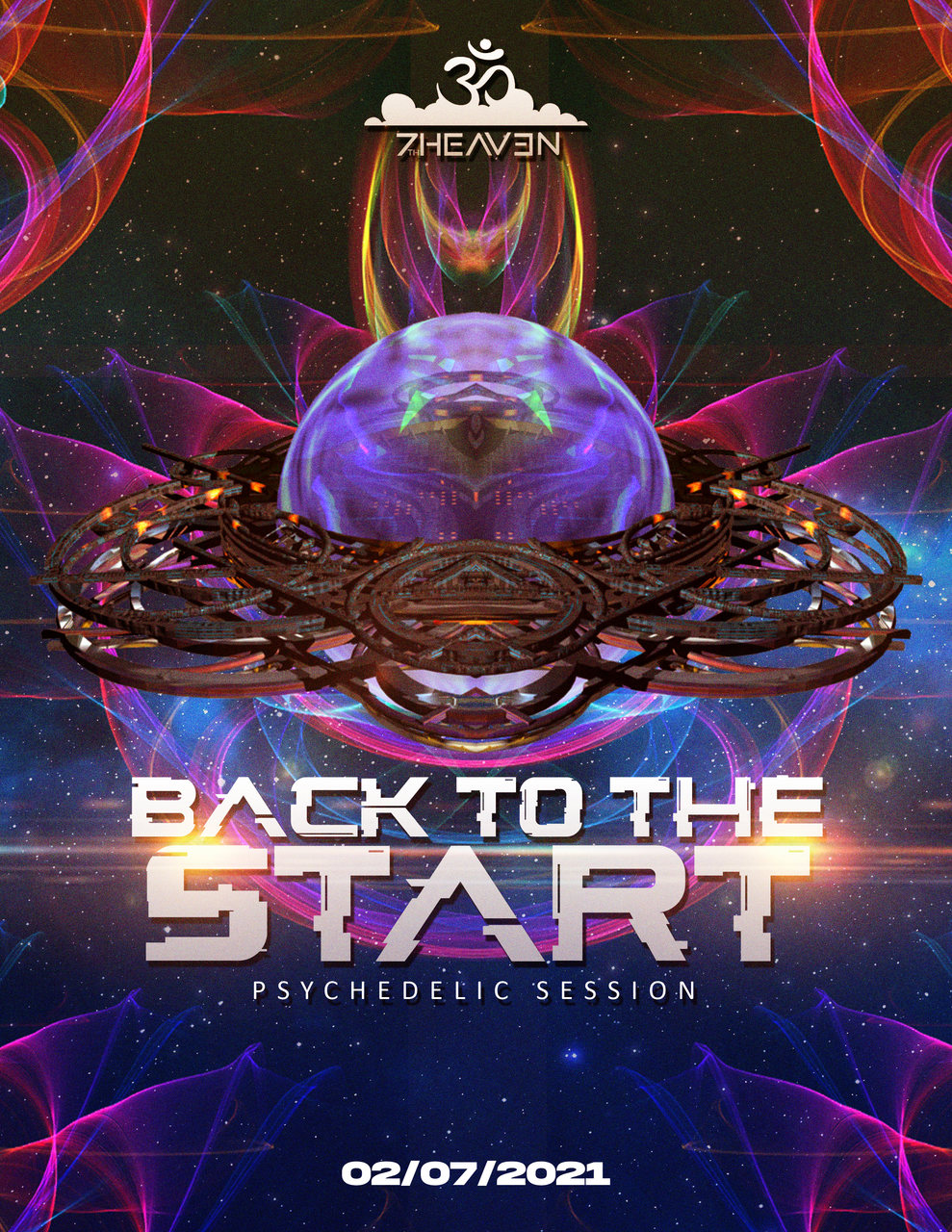 Party Flyer Psychedelic Session: back to the start 2 Jul '21, 19:00