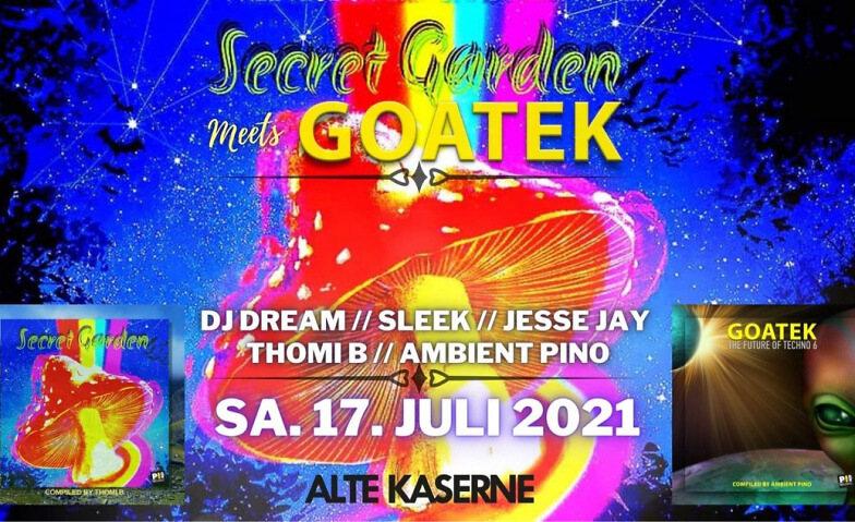 Party Flyer SECRET GARDEN MEETS GOATEK 17 Jul '21, 23:00
