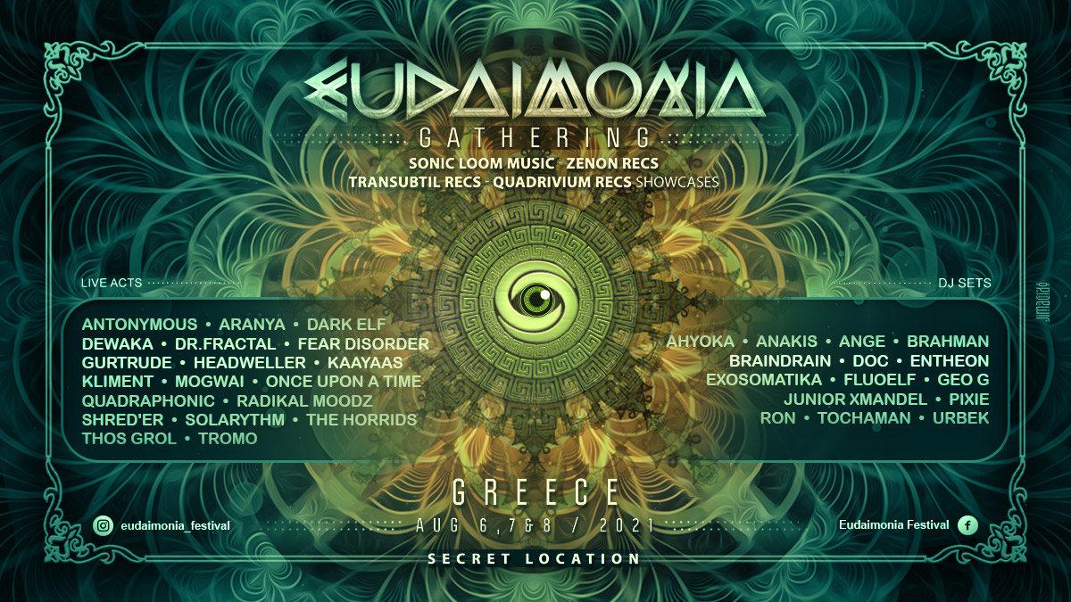 Party Flyer Eudaimonia Gathering (Greece) 6 Aug '21, 09:30
