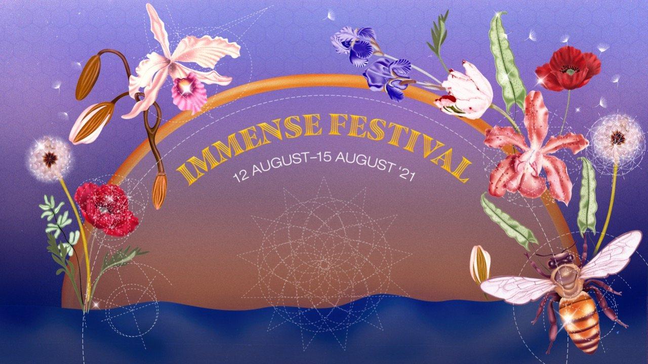 Party Flyer Immense Festival 12 Aug '21, 13:00