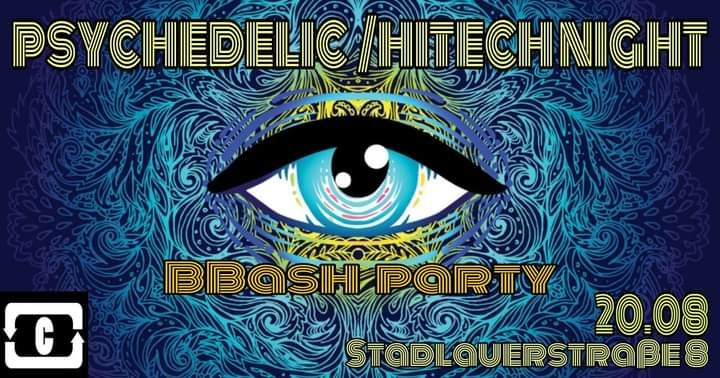 Party Flyer PSYCHEDELIC / HI -TECH NIGHT 20 Aug '21, 22:00