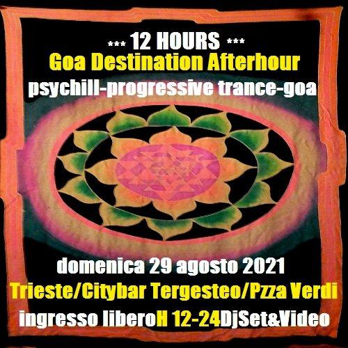 Party Flyer 12 HOURS/Goa Destination Afterhour 29 Aug '21, 12:00